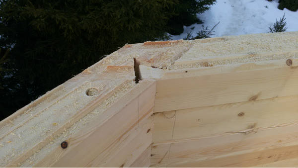 """Фото Строительство дома из бруса на две семьи по проекту """"Лесные Пруды"""" (продолжение)"""