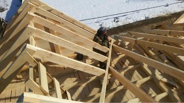Как сделать крышу с четырьмя фронтонами