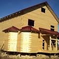 """Фото 4: Окончен первый этап строительства дома из профилированного бруса по проекту """"Резиденция"""""""