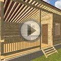 Видео Баня из бруса 6х4 4 с односкатной крышей