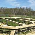 Фото 3: Начало строительства... Закладные венцы, первый ряд