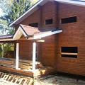 Фото 1: Окончание строительства дома из бруса под крышу на усадку