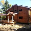 Фото 3: Окончание строительства дома из бруса под крышу на усадку