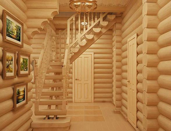 Фото Интерьер деревянного дома