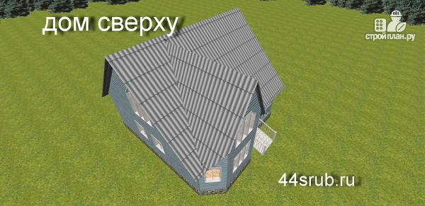 Фото 10: проект дом из бруса с эркером в гостиной