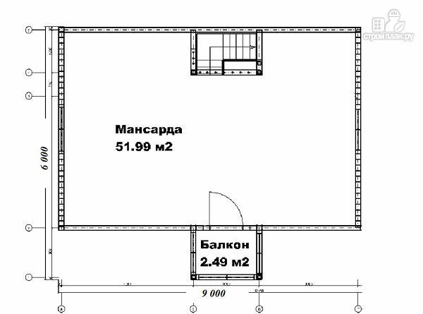 Фото 7: проект дом 6х9 из бруса с просторной террасой