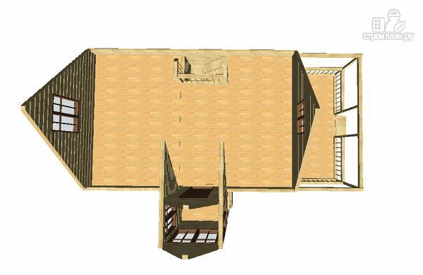 Фото 8: проект дом 6х9 из бруса с просторной террасой