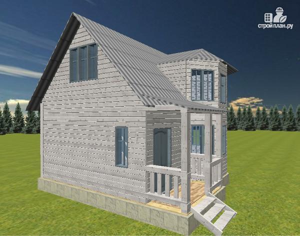 Фото 3: проект дом с эркерами
