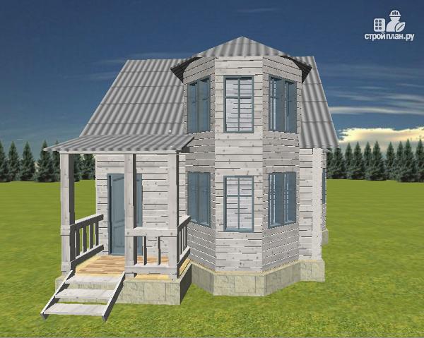 Фото 2: проект дом с эркерами