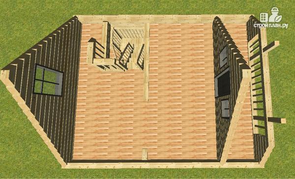 Фото 6: проект проект дома из бруса с мансардой