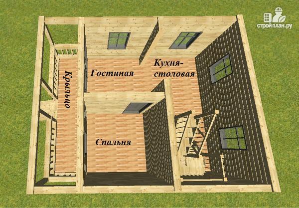 Фото 5: проект проект дома из бруса с мансардой