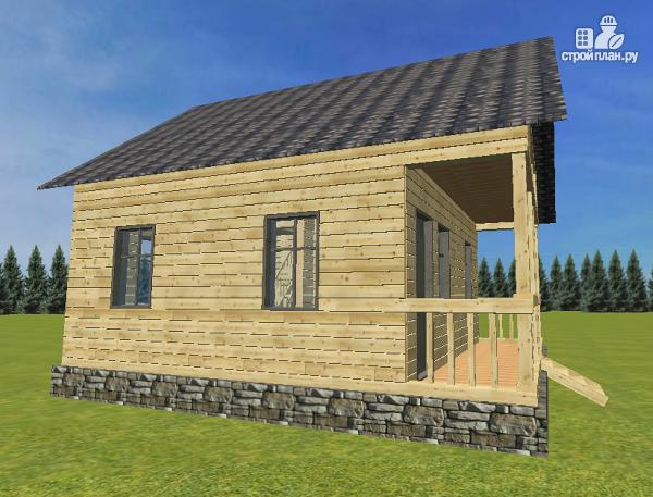 Фото 3: проект проект дома из бруса с мансардой