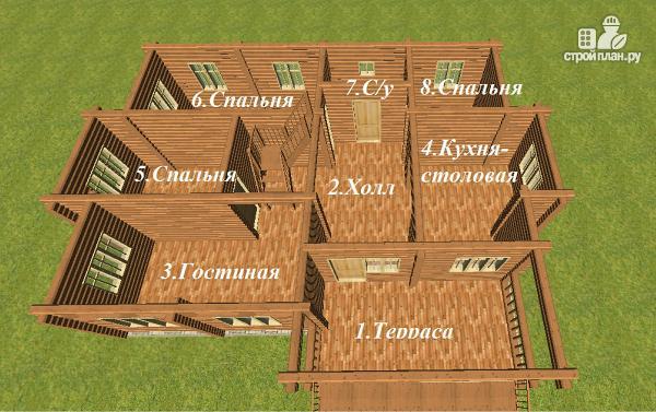 Фото 6: проект дом с большой террасой и балконом