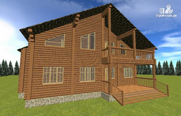 Фото 2: проект дом с большой террасой и балконом