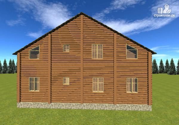 Фото 5: проект дом с большой террасой и балконом