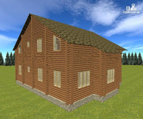 Фото 4: проект дом с большой террасой и балконом