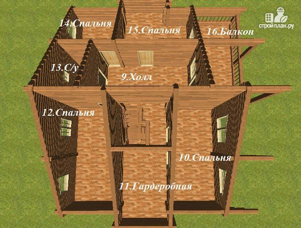 Фото 7: проект дом с большой террасой и балконом