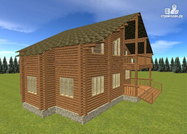 Фото 3: проект дом с большой террасой и балконом