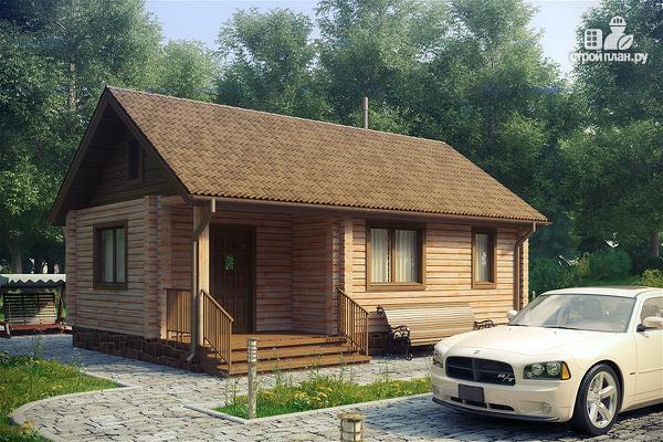 """Фото: проект дачный домик с крыльцом, проект """"Берлога"""""""