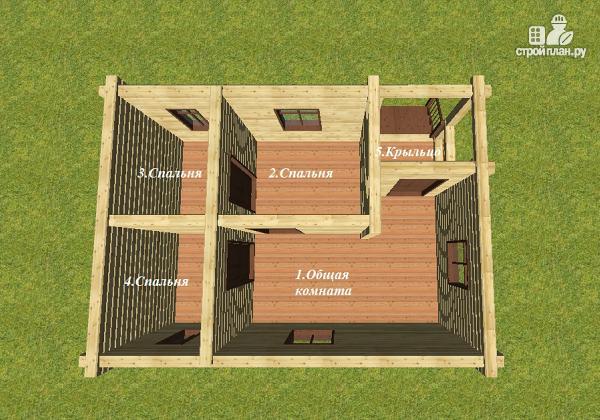 """Фото 5: проект дачный домик с крыльцом, проект """"Берлога"""""""