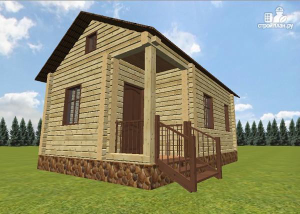 """Фото 2: проект дачный домик с крыльцом, проект """"Берлога"""""""