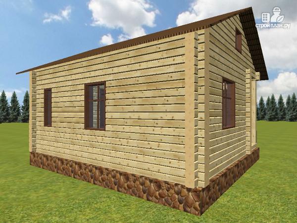 """Фото 3: проект дачный домик с крыльцом, проект """"Берлога"""""""