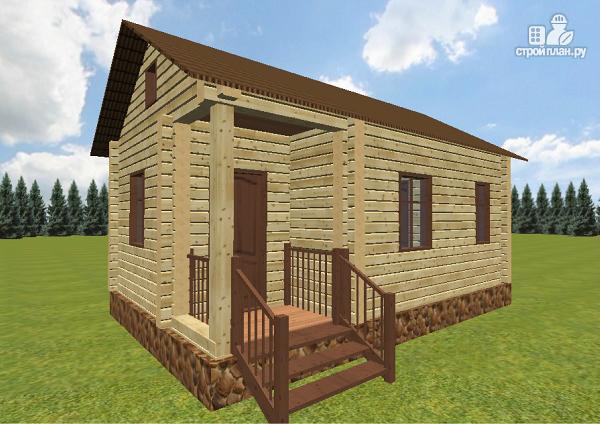 """Фото 4: проект дачный домик с крыльцом, проект """"Берлога"""""""