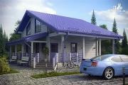 Проект дом с большой террасой