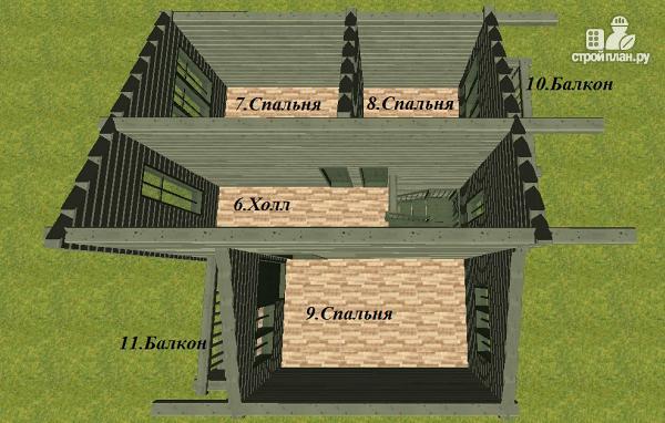 Фото 7: проект дом с балконом