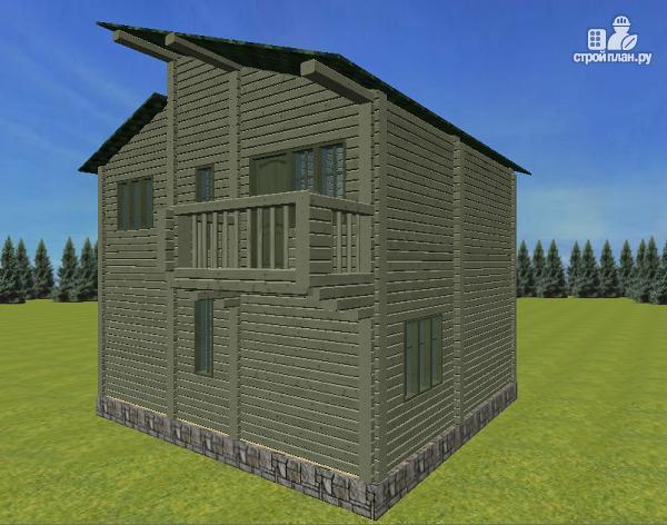Фото 4: проект дом с балконом