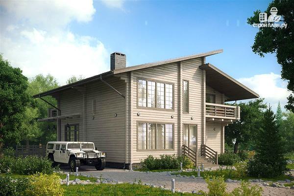 Фото: проект дом с балконом