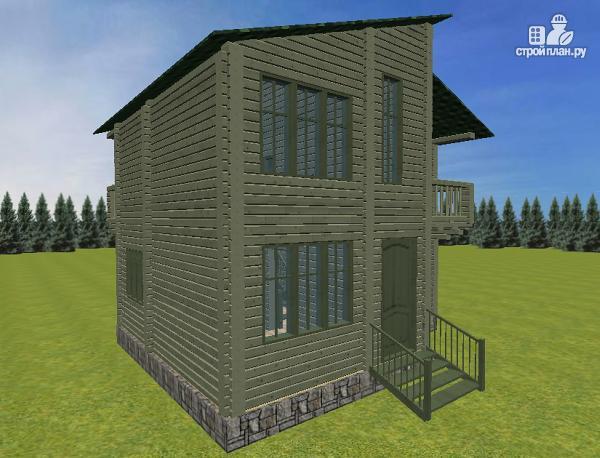 Фото 3: проект дом с балконом