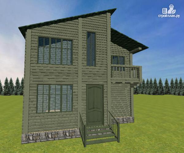 Фото 2: проект дом с балконом