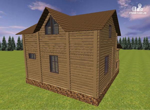 Фото 5: проект дом из бруса с большой террасой