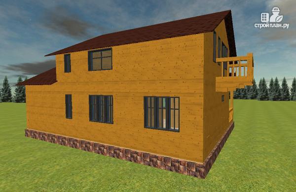 Фото 6: проект дом из бруса с гаражом