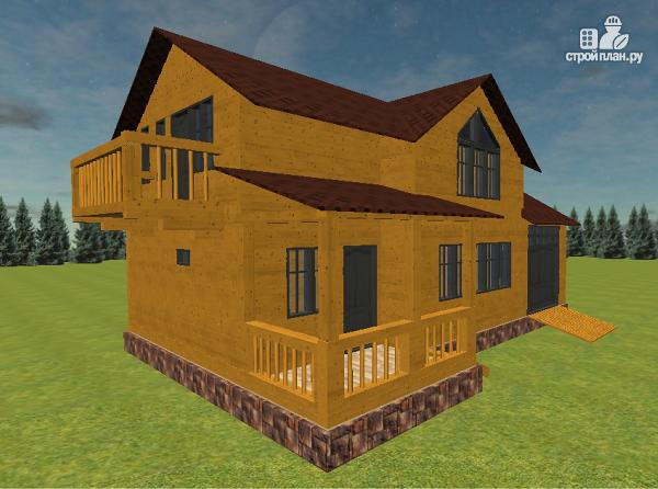 Фото 4: проект дом из бруса с гаражом