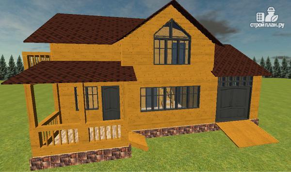 Фото 2: проект дом из бруса с гаражом