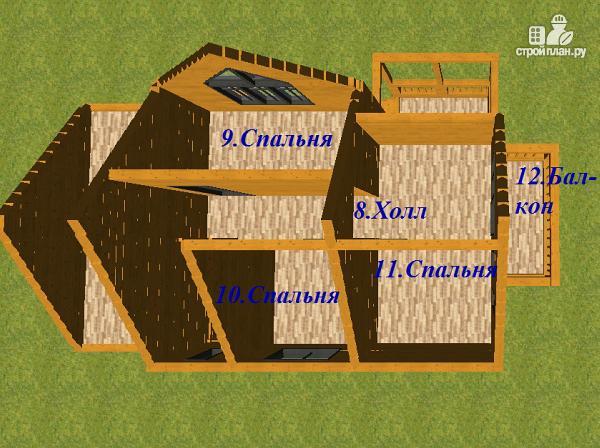 Фото 9: проект дом из бруса с гаражом