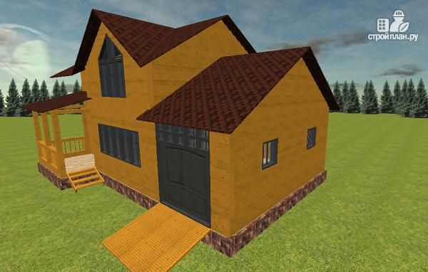 Фото 3: проект дом из бруса с гаражом