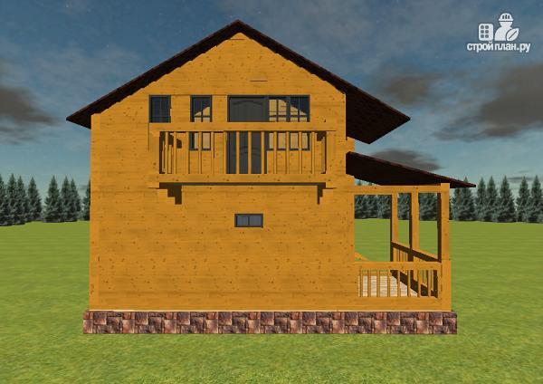 Фото 5: проект дом из бруса с гаражом
