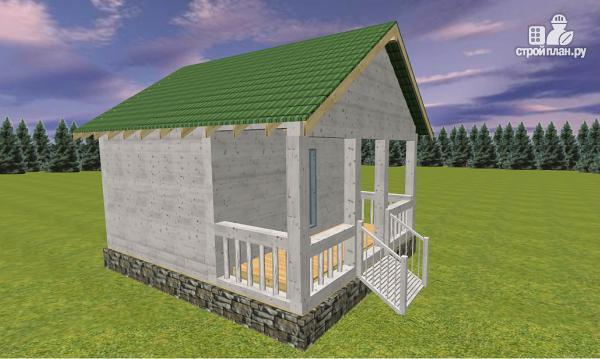 Фото 2: проект дом из бруса с террасой