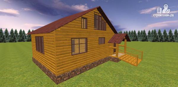 Фото 4: проект дом из бруса с крытой террасой