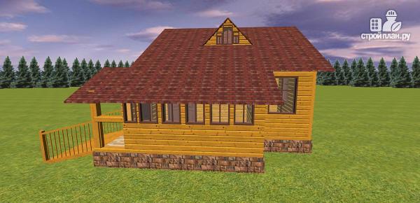 Фото 8: проект дом из бруса с крытой террасой