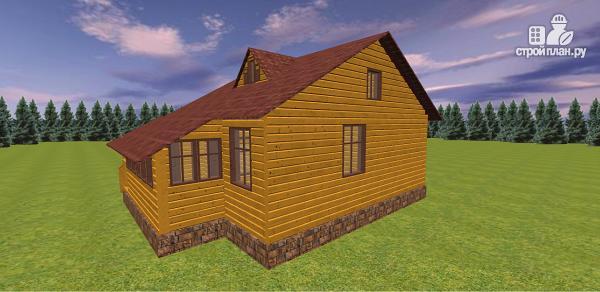 Фото 7: проект дом из бруса с крытой террасой