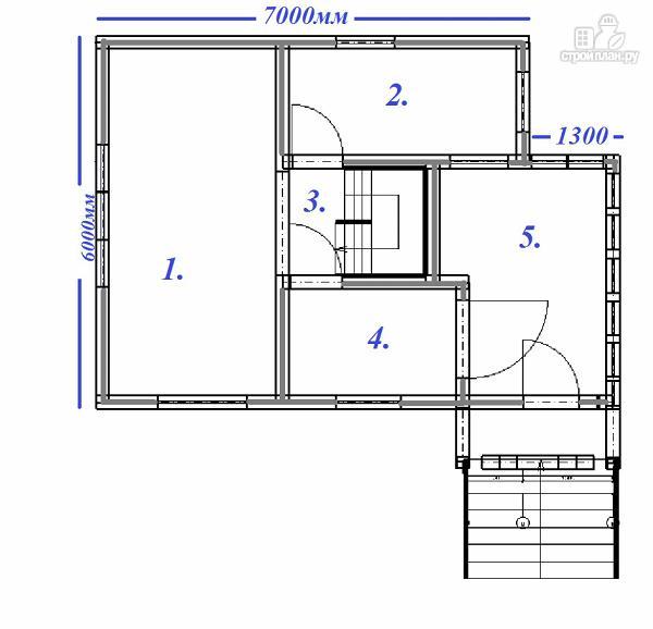 Фото 9: проект дом из бруса с крытой террасой