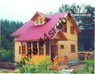 Фото: проект дом из бруса с крытой террасой