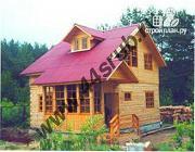 Фото: дом из бруса с крытой террасой