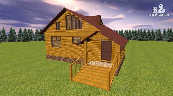 Фото 3: проект дом из бруса с крытой террасой