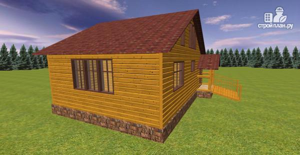 Фото 5: проект дом из бруса с крытой террасой