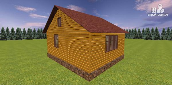 Фото 6: проект дом из бруса с крытой террасой